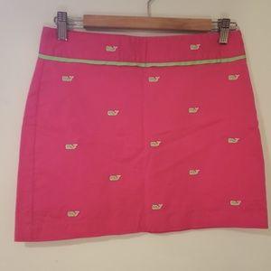 Vineyard vines pink skirt size 0 whales
